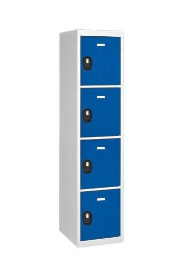 Taquilla inicial 4 cuerpos gris - azul