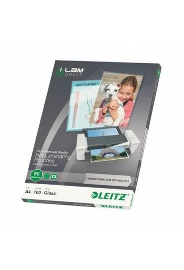 Fundas plastificar A4 80 mc Leitz ILAM caja 100