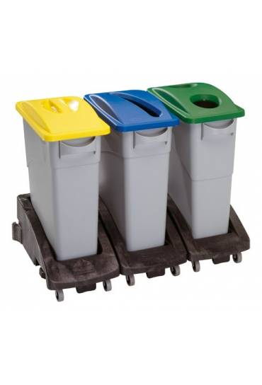 Contenedor Rubbermaid Slim Jim 60l con asas