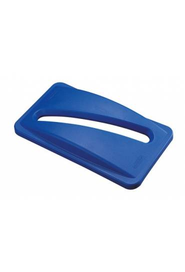 Tapa  contenedor Rubbermaid Slim Jim azul