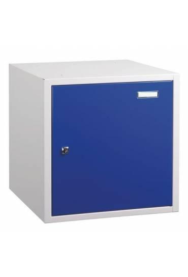 Casilla metalica grande 45x45x43  individual azul
