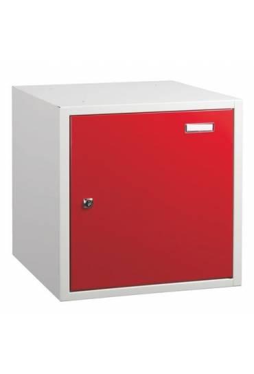 Casilla metalica grande 45x45x43  individual rojo