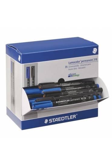 Pack 35 rotuladores lumocolor azul y negro