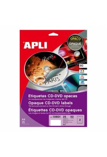 Etiquetas CD mate 50 unidades Apli