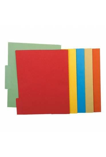 Subcarpetas pestañas central A4 amarillo 50 unidad