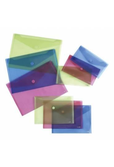Sobres PP A5 cierre velcro Azul  bolsa 10 unds