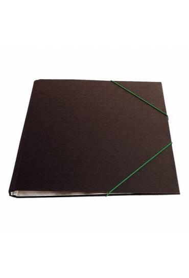 Carpeta con goma folio negro brillante