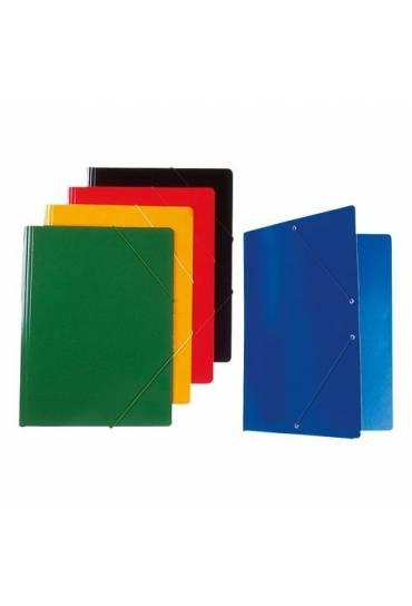 Carpeta con goma folio verde brillante