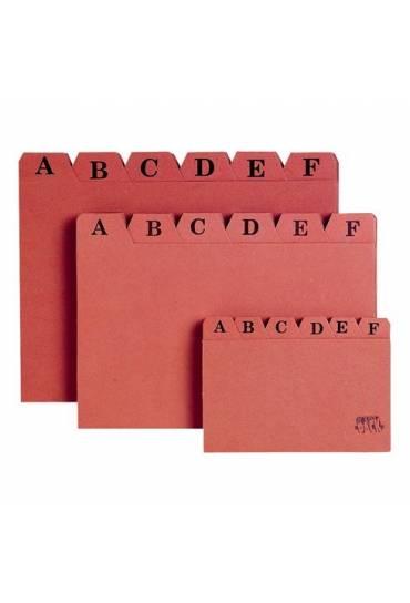 Índice separadores cartón para fichero 100x150mm