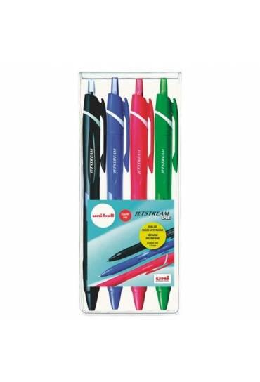 Estuche 4 rollers jetstream sport colores clasicos