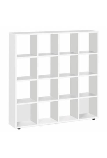 Biblioteca 16 casilleros intuitiv blanco 163x160x3