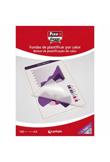 Fundas plastificar A3 125 micras caja 100 unds