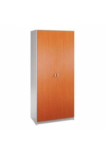 Armario madera 180x90gris aluminio/cerezo