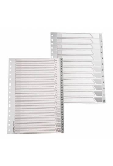 Separadores indices 1-12 16 anillas folio vertical