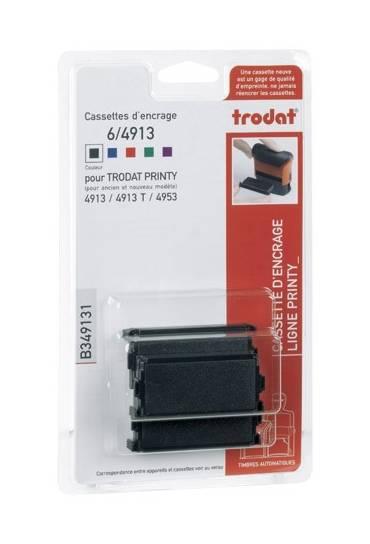 Almohadilla 4913 tinta negra Trodat  3 unidades