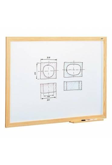 Pizarra blanca estratificada marco madera 100x150
