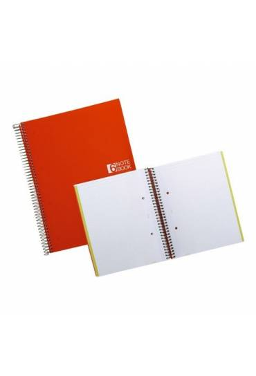 Note Book-6 A4 PP 150h rojo MiquelRius