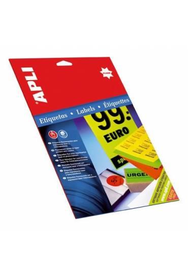 Etiquetas Apli fluor  64x33,9 naranja 480 unds