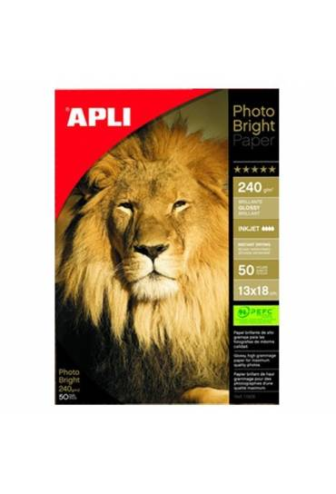 Papel Photo Apli bright  inkjet A4 240g. 20 hojas