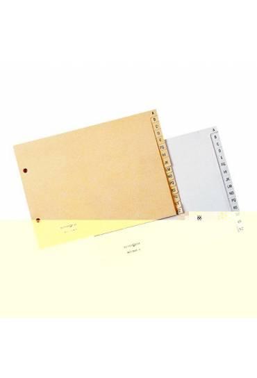 Separadores Indice papel cuarto apaisado