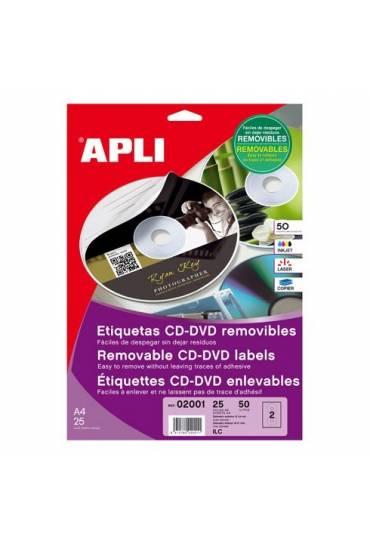 Etiqueta autoadhesivas CD Apli 50 unidades