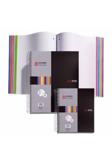 Cuaderno 8 Colores A4 200h con espiral