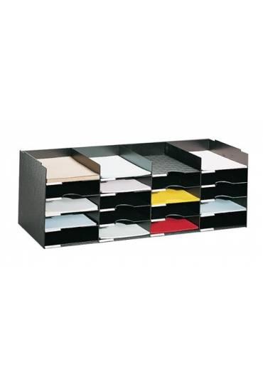 Modulo organizador modular 20 casillas negro