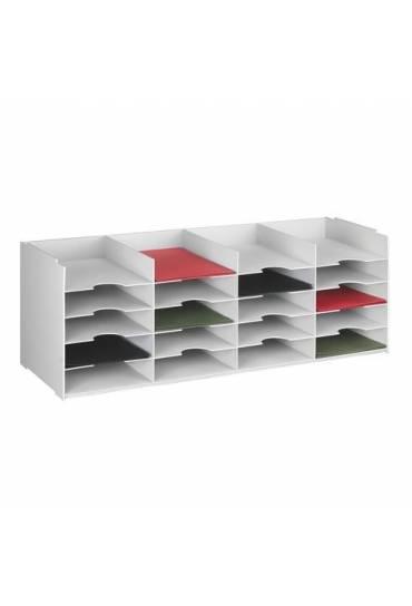 Modulo organizador modular 20 casillas gris