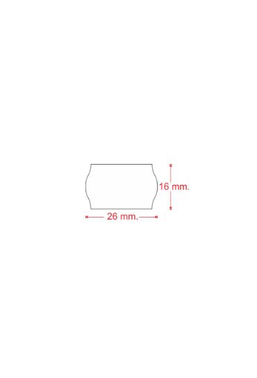 Rollo 1200 etiquetas 26x16mm blanco