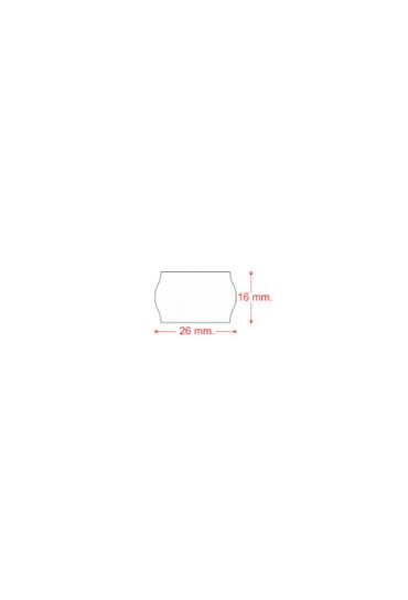 Caja 40 rollos etiquetas 26x16mm blancas removible