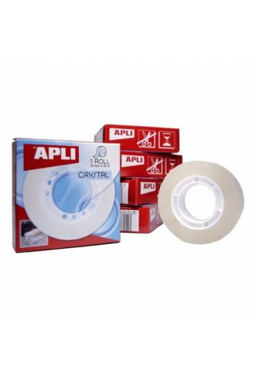 Cinta adhesiva crystal 15 x 33 Apli
