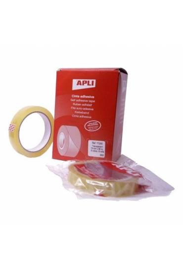 Cinta adhesiva transparente 19x33 Apli Pack 8