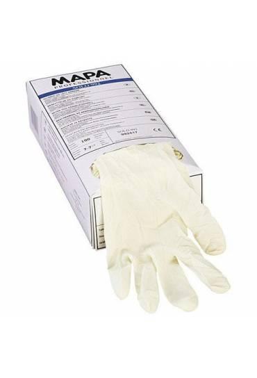 Caja 100 guantes latex t.6 Mapa