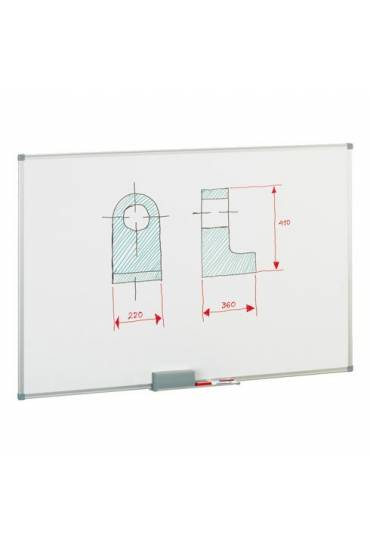 Pizarra lacada marco aluminio 90x120 Faibo