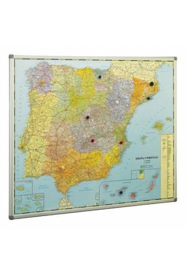 Mapa de España y Portugal enmarcado.