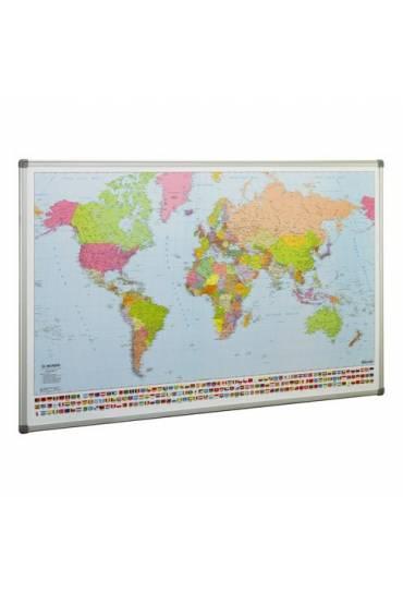 Mapa del mundo enmarcado