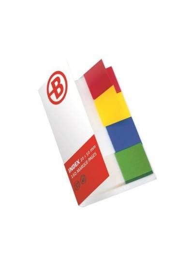 Marcapaginas banderitas autoadhesivas 4 colores JM