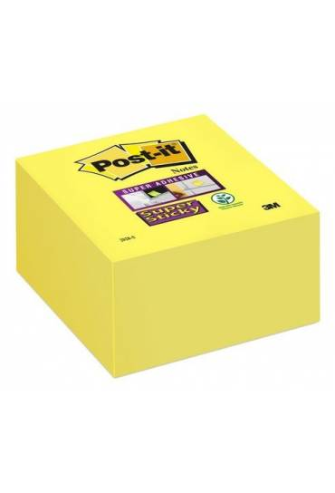 Cubo notas adhesivas post-it amarillo supersticky