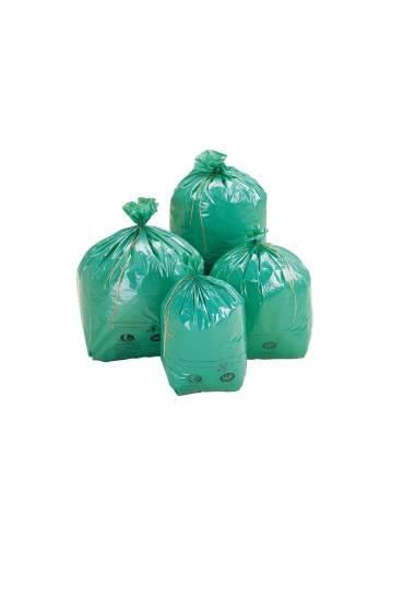 Bolsas basura ecológicas 100 litros verdes, 200 bo