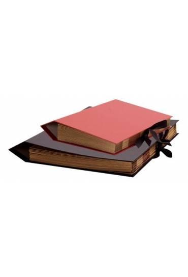 Clasificador acordeon carton folio rojo