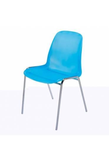 Silla coque translucida azul