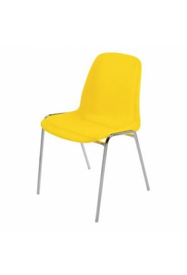Silla coque translucida amarillo