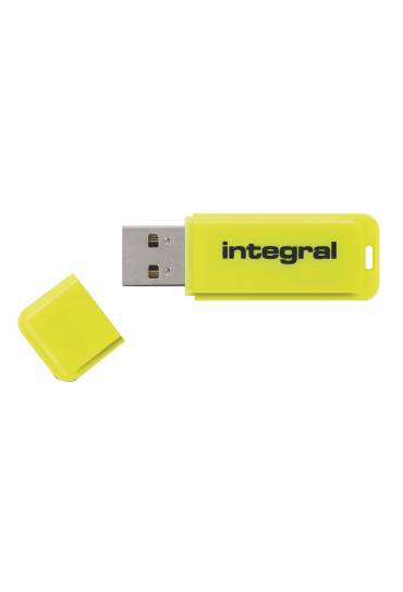 Memoria USB Integral Neon 8 Gb amarillo