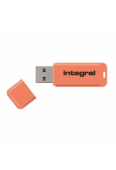 Memoria USB Integral Neon 8 Gb naranja