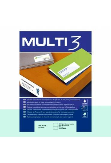 Etiquetas multifuncion Multi3  38x21,2 caja 100h