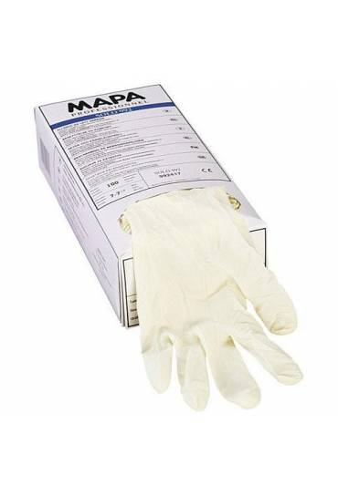 Guantes latex s/polvos t.7 caja 100