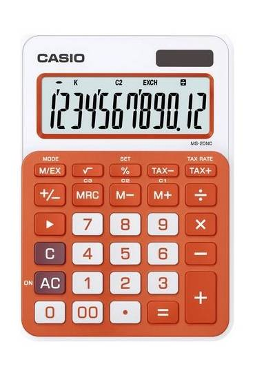 Calculadora casio MS-20NC Naranja