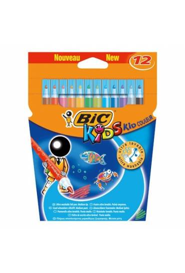 Caja 12 rotuladores Bic Kids Couleur ultralavables