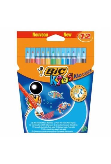 Caja 12 rotuladores Bic Kids Couleur ultralavables
