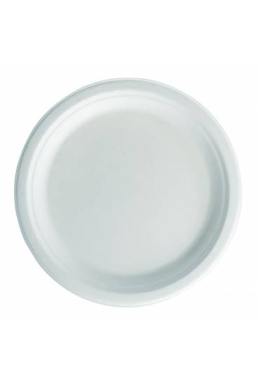 Platos biodegradables 23 cm, 50 unidades